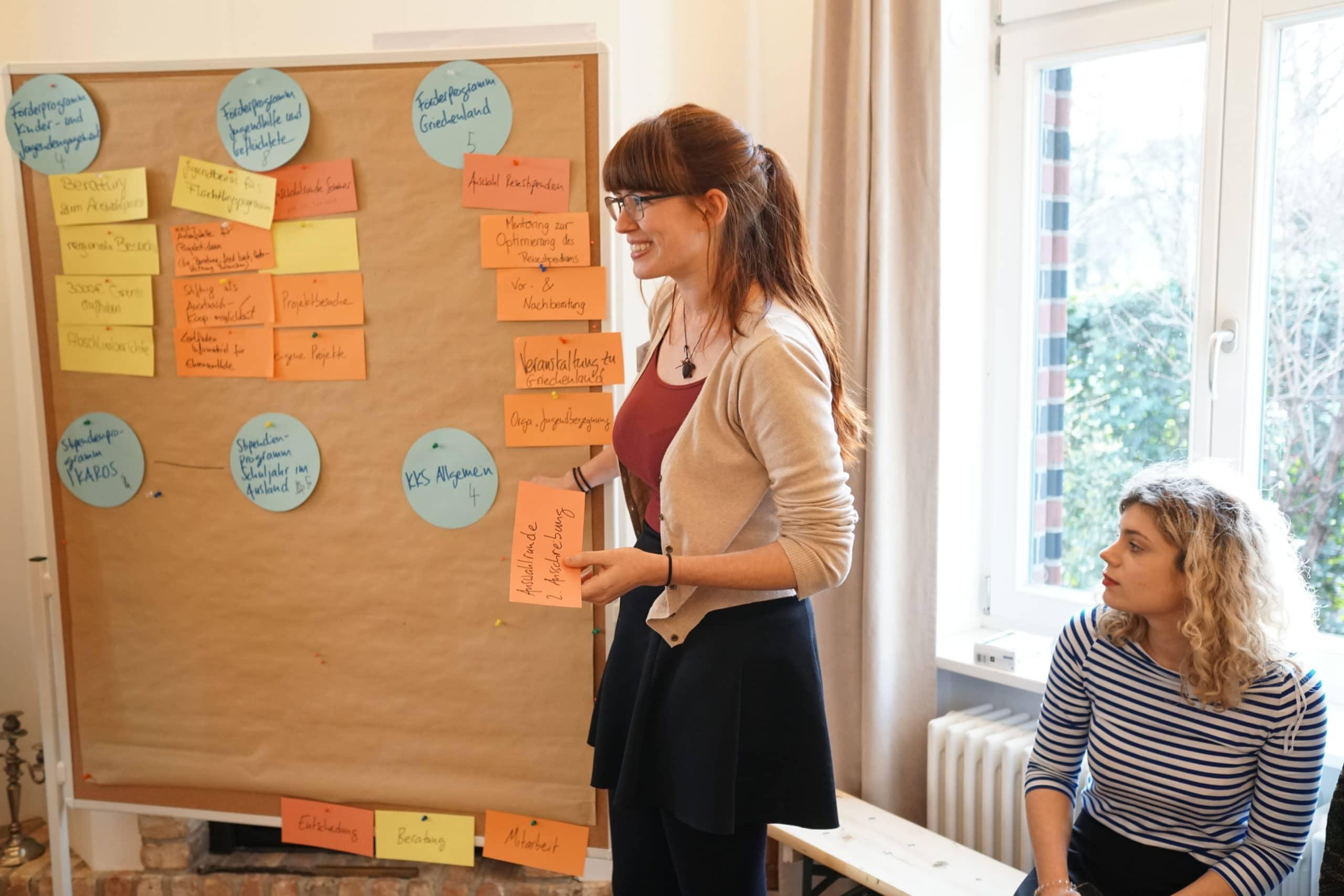 Junge Zukunftswerkstatt: Ehemalige Reisestipendiatin präsentiert die Gruppenergebnisse