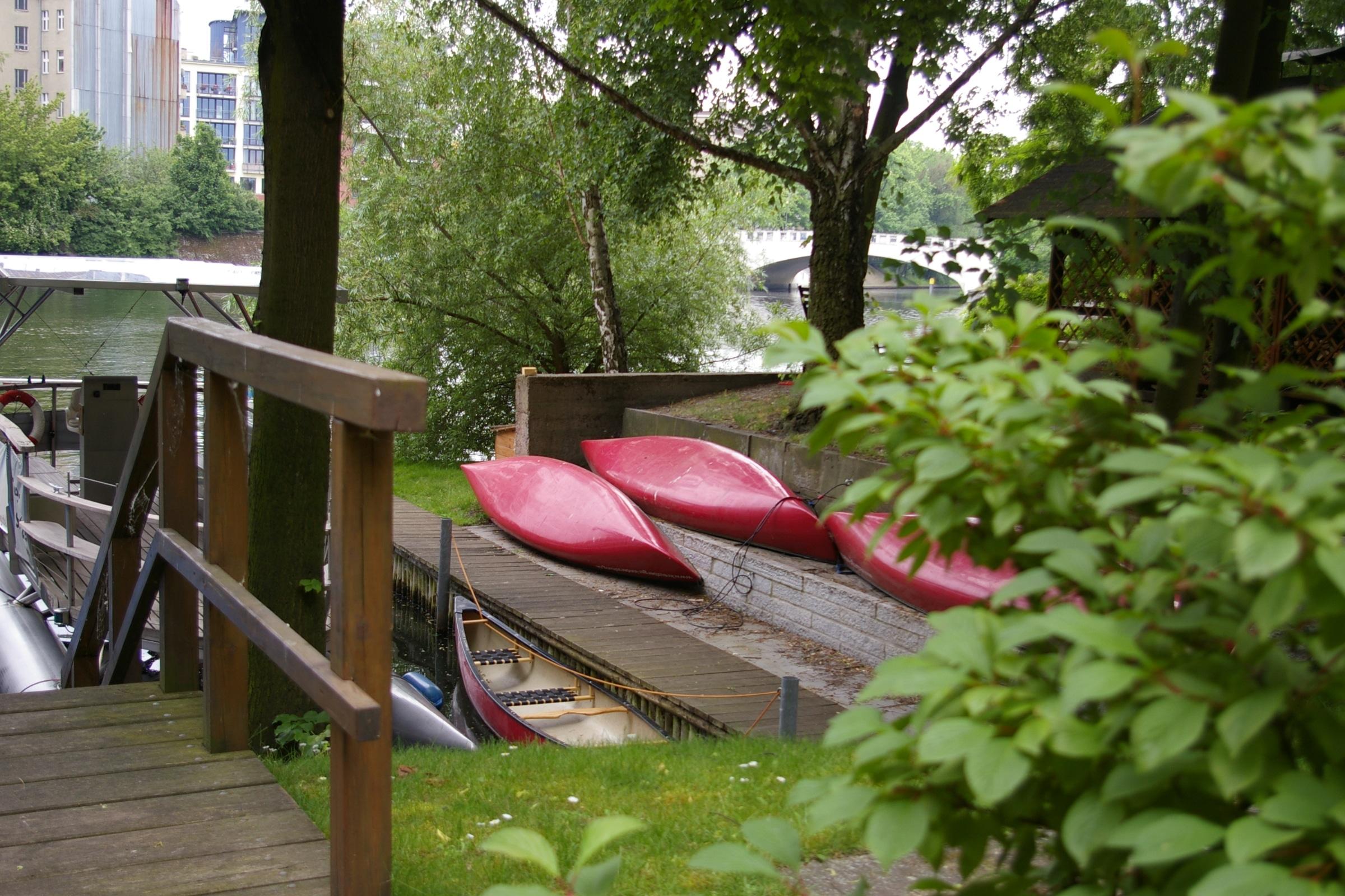 Unsere Kanus im Stiftungshafen