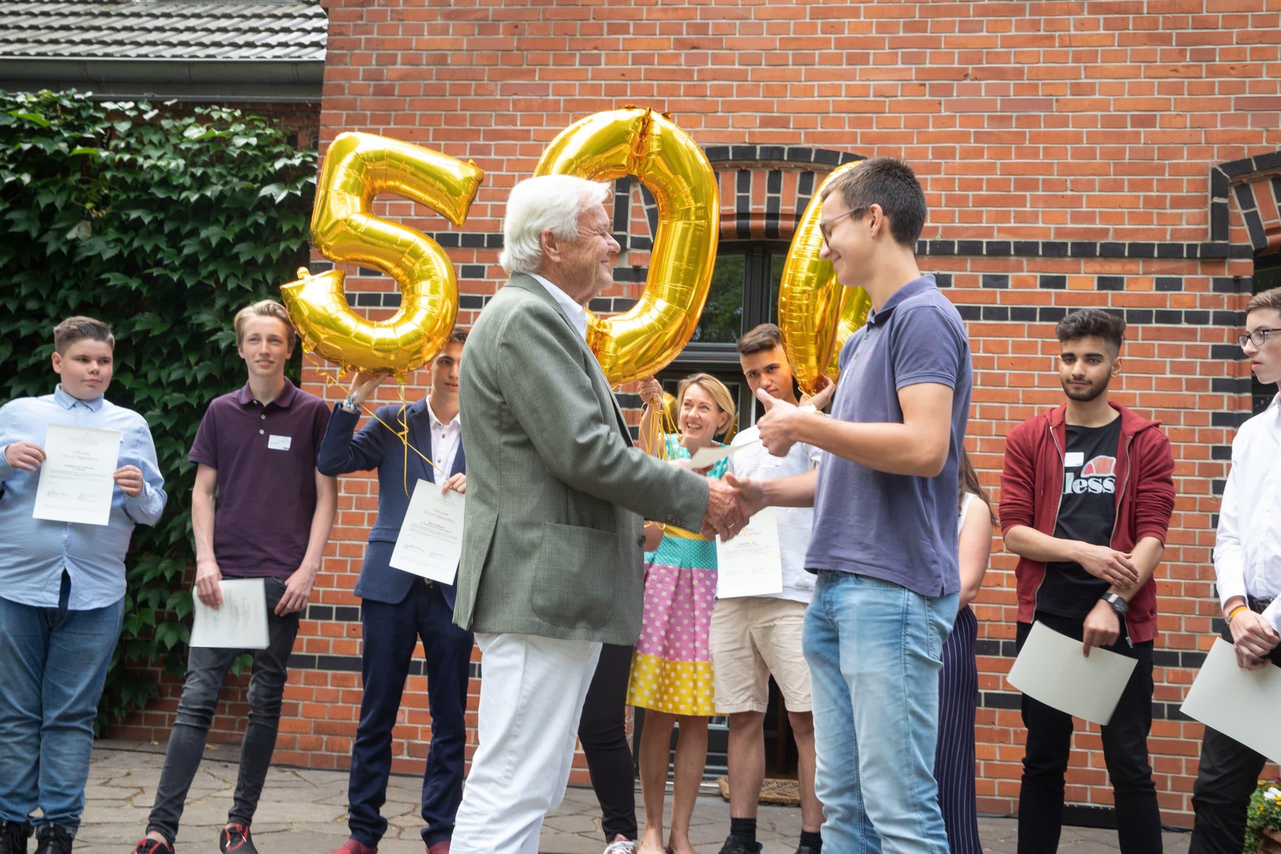 Verleihung des 500. Stipendiums (2018)