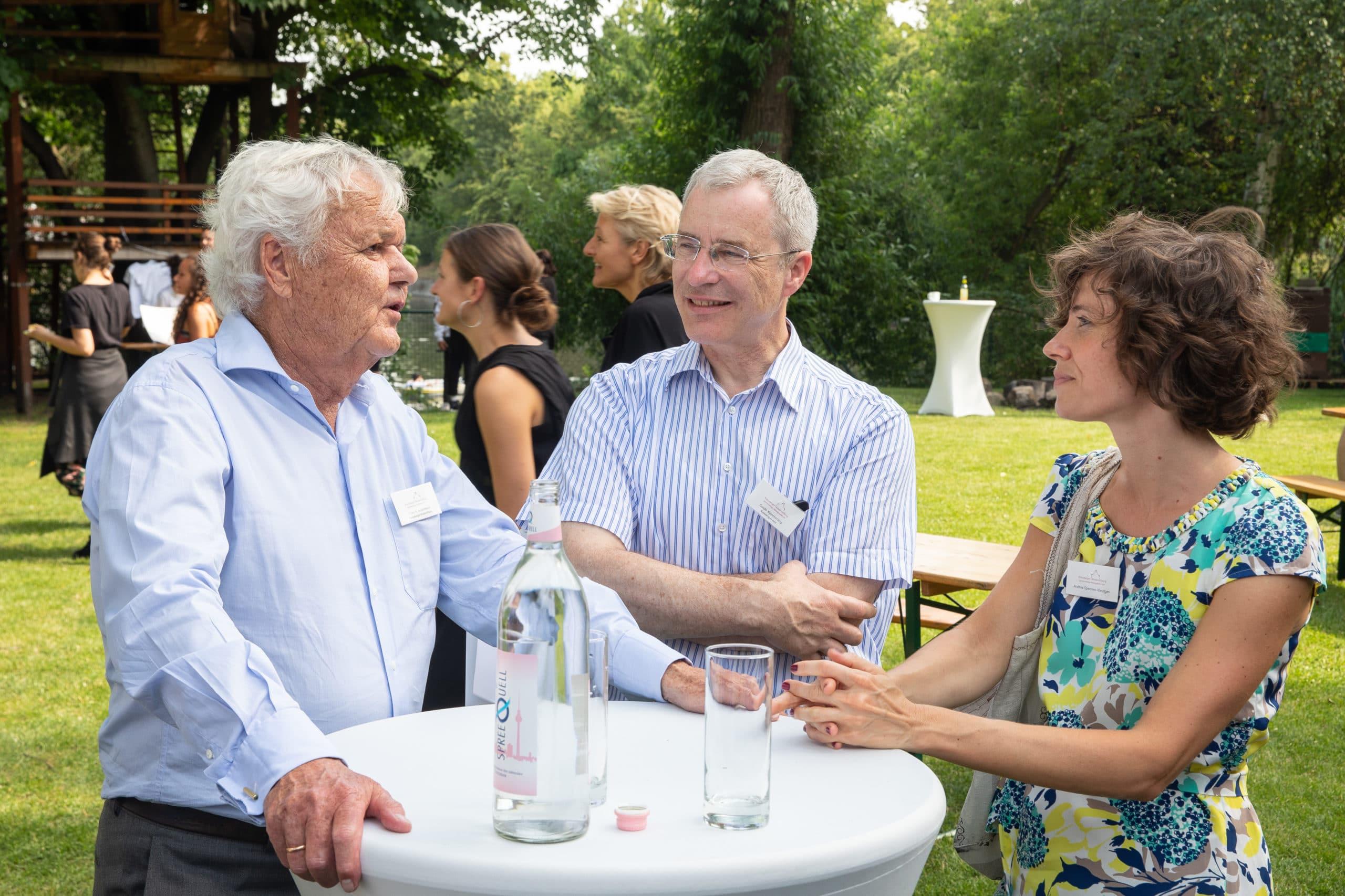 Peter Ackermann, Guido Kemmerling und Andrea Spennes-Kleutges - Stipendienverleihung 2019