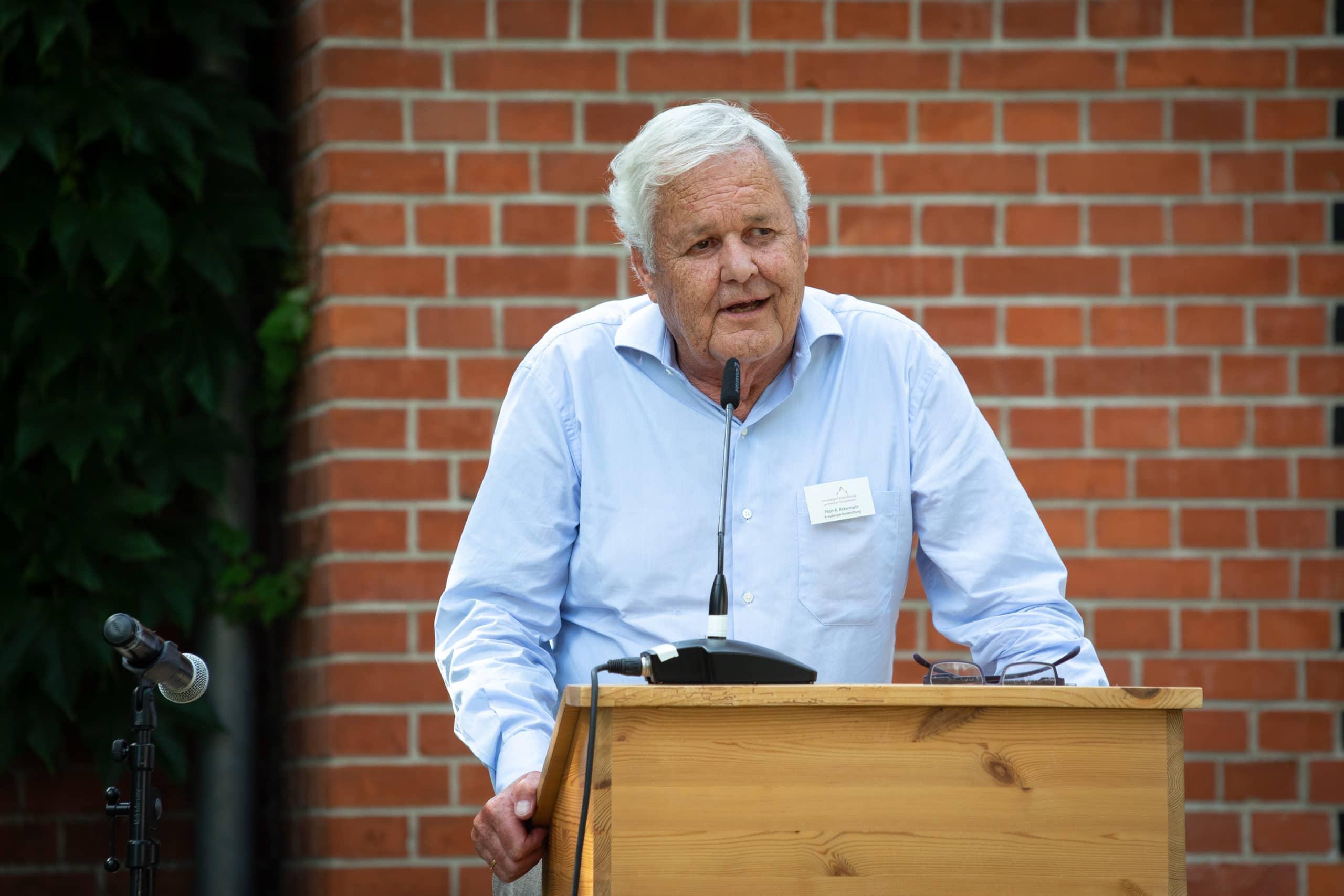 Peter Ackermann bei der Stipendienverleihung 2019